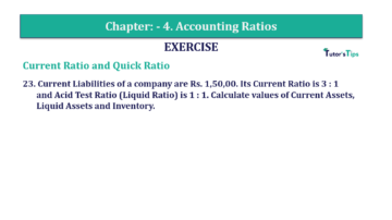 Question No. 23 Chapter No.4 T.S. Grewal 2 Book Part B min 360x202 - Chapter No. 4 - Accounting Ratios - Solution - Class 12