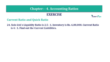 Question No. 24 Chapter No.4 T.S. Grewal 2 Book Part B min 360x202 - Chapter No. 4 - Accounting Ratios - Solution - Class 12