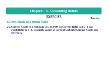 Question No. 25 Chapter No.4 T.S. Grewal 2 Book Part B min 360x202 - Chapter No. 4 - Accounting Ratios - Solution - Class 12
