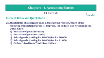 Question No. 26 Chapter No.4 T.S. Grewal 2 Book Part B min 360x202 - Chapter No. 4 - Accounting Ratios - Solution - Class 12