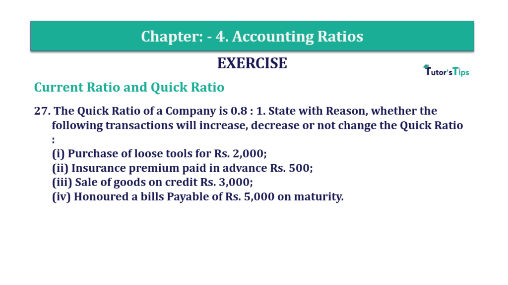 Question 27 Chapter 4 of +2-B