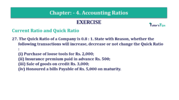Question No. 27 Chapter No.4 T.S. Grewal 2 Book Part B min 360x202 - Chapter No. 4 - Accounting Ratios - Solution - Class 12