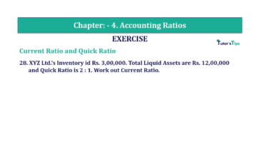 Question No. 28 Chapter No.4 T.S. Grewal 2 Book Part B min 360x202 - Chapter No. 4 - Accounting Ratios - Solution - Class 12