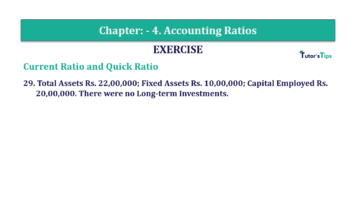 Question No. 29 Chapter No.4 T.S. Grewal 2 Book Part B min 360x202 - Chapter No. 4 - Accounting Ratios - Solution - Class 12