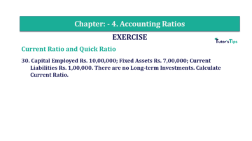 Question No. 30 Chapter No.4 T.S. Grewal 2 Book Part B min 360x202 - Chapter No. 4 - Accounting Ratios - Solution - Class 12