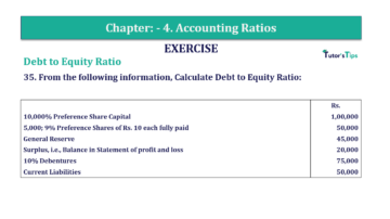 Question No. 35 Chapter No.4 T.S. Grewal 2 Book Part B min 360x202 - Chapter No. 4 - Accounting Ratios - Solution - Class 12