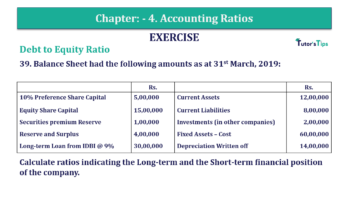 Question No. 39 Chapter No.4 T.S. Grewal 2 Book Part B min 360x202 - Chapter No. 4 - Accounting Ratios - Solution - Class 12