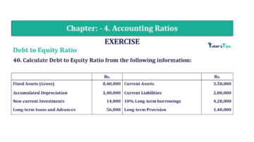 Question No. 40 Chapter No.4 T.S. Grewal 2 Book Part B min 360x202 - Chapter No. 4 - Accounting Ratios - Solution - Class 12