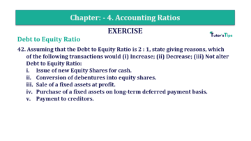 Question No. 42 Chapter No.4 T.S. Grewal 2 Book Part B min 360x202 - Chapter No. 4 - Accounting Ratios - Solution - Class 12