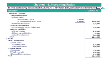 Question No. 43 Chapter No.4 T.S. Grewal 2 Book Part B min 360x202 - Chapter No. 4 - Accounting Ratios - Solution - Class 12
