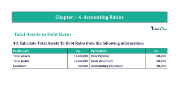 Question No. 49 Chapter No.4 T.S. Grewal 2 Book Part B min 360x202 - Chapter No. 4 - Accounting Ratios - Solution - Class 12