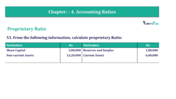 Question No. 53 Chapter No.4 T.S. Grewal 2 Book Part B min 360x202 - Chapter No. 4 - Accounting Ratios - Solution - Class 12