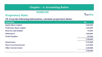 Question No. 54 Chapter No.4 T.S. Grewal 2 Book Part B min 360x202 - Chapter No. 4 - Accounting Ratios - Solution - Class 12