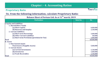 Question No. 56 Chapter No.4 T.S. Grewal 2 Book Part B min 360x202 - Chapter No. 4 - Accounting Ratios - Solution - Class 12
