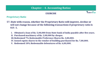 Question No. 57 Chapter No.4 T.S. Grewal 2 Book Part B min 360x202 - Chapter No. 4 - Accounting Ratios - Solution - Class 12