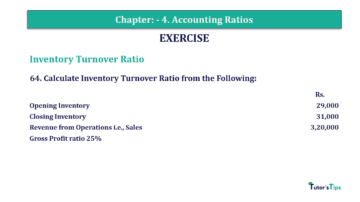 Question No. 64 Chapter No.4 T.S. Grewal 2 Book Part B min 360x202 - Chapter No. 4 - Accounting Ratios - Solution - Class 12