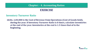 Question No. 68 Chapter No.4 T.S. Grewal 2 Book Part B min 360x202 - Chapter No. 4 - Accounting Ratios - Solution - Class 12