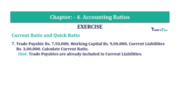 Question No. 7 Chapter No.4 T.S. Grewal 2 Book Part B min 360x202 - Chapter No. 4 - Accounting Ratios - Solution - Class 12