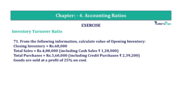 Question No. 71 Chapter No.4 T.S. Grewal 2 Book Part B min 360x202 - Chapter No. 4 - Accounting Ratios - Solution - Class 12