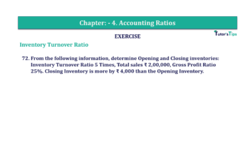 Question No. 72 Chapter No.4 T.S. Grewal 2 Book Part B min 360x202 - Chapter No. 4 - Accounting Ratios - Solution - Class 12