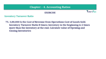 Question No. 75 Chapter No.4 T.S. Grewal 2 Book Part B min 360x202 - Chapter No. 4 - Accounting Ratios - Solution - Class 12
