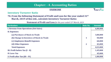 Question No. 78 Chapter No.4 T.S. Grewal 2 Book Part B min 360x202 - Chapter No. 4 - Accounting Ratios - Solution - Class 12