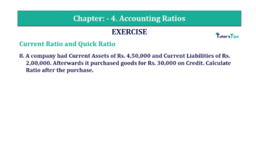 Question No. 8 Chapter No.4 T.S. Grewal 2 Book Part B min 360x202 - Chapter No. 4 - Accounting Ratios - Solution - Class 12