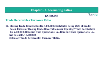 Question No. 86 Chapter No.4 T.S. Grewal 2 Book Part B min 360x202 - Chapter No. 4 - Accounting Ratios - Solution - Class 12