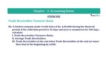 Question No. 88 Chapter No.4 T.S. Grewal 2 Book Part B min 360x202 - Chapter No. 4 - Accounting Ratios - Solution - Class 12