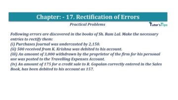 Question No.08 Chapter No.17 T.S. Grewal 1 Book 2019 Solution min min 360x202 - Chapter No. 17 - Rectification of Errors- Solution