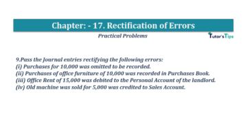 Question No.09 Chapter No.17 T.S. Grewal 1 Book 2019 Solution min min 360x202 - Chapter No. 17 - Rectification of Errors- Solution