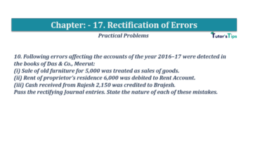 Question No.10 Chapter No.17 T.S. Grewal 1 Book 2019 Solution min min 360x202 - Chapter No. 17 - Rectification of Errors- Solution