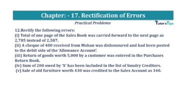 Question No.12 Chapter No.17 T.S. Grewal 1 Book 2019 Solution min min 360x202 - Chapter No. 17 - Rectification of Errors- Solution