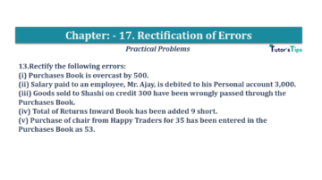 Question No.13 Chapter No.17 T.S. Grewal 1 Book 2019 Solution min min 360x202 - Chapter No. 17 - Rectification of Errors- Solution
