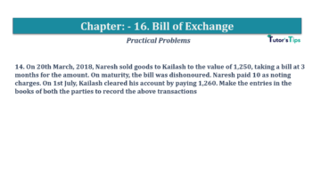 Question No.14 Chapter No.16 T.S. Grewal 1 Book 2019 Solution min min 360x202 - Chapter No. 16 - Accounting for Bills of Exchange - Solution