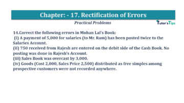 Question No.14 Chapter No.17 T.S. Grewal 1 Book 2019 Solution min min 360x202 - Chapter No. 17 - Rectification of Errors- Solution