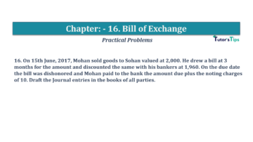 Question No.16 Chapter No.16 T.S. Grewal 1 Book 2019 Solution min min 360x202 - Chapter No. 16 - Accounting for Bills of Exchange - Solution