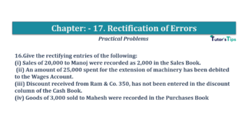 Question No.16 Chapter No.17 T.S. Grewal 1 Book 2019 Solution min min 360x202 - Chapter No. 17 - Rectification of Errors- Solution