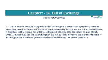 Question No.17 Chapter No.16 T.S. Grewal 1 Book 2019 Solution min min 360x202 - Chapter No. 16 - Accounting for Bills of Exchange - Solution
