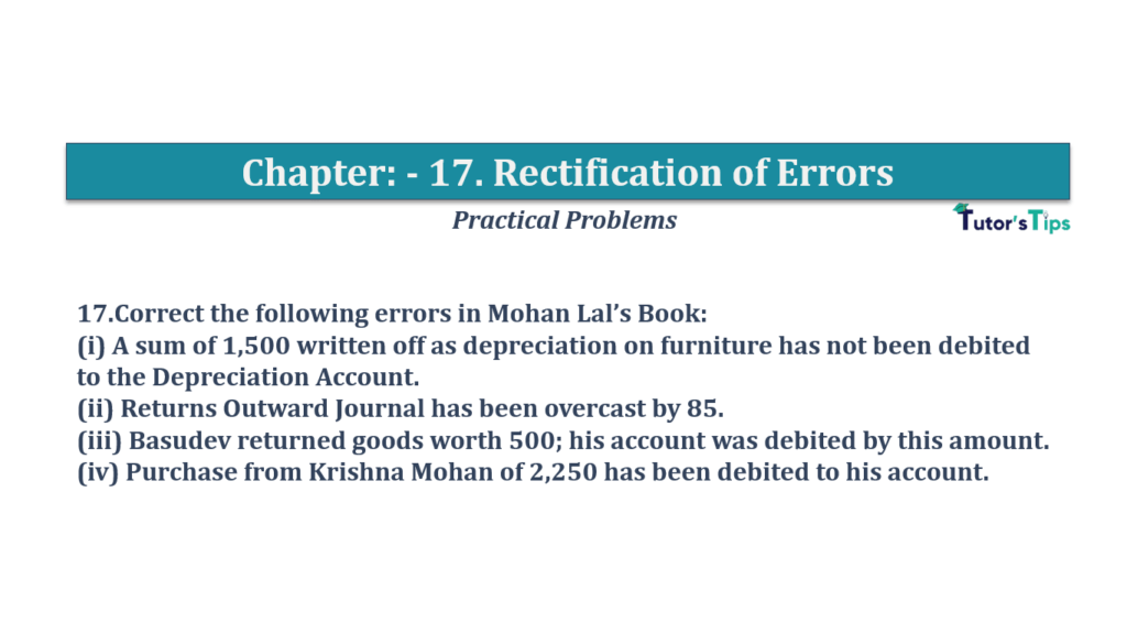 Question No 17 Chapter No 17