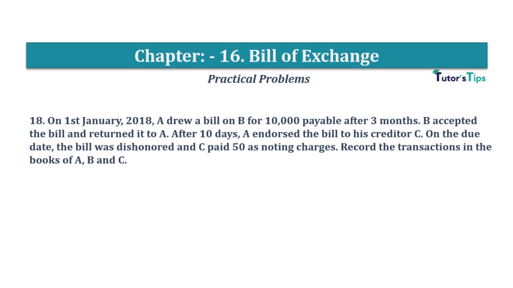 Question No 18 Chapter No 16