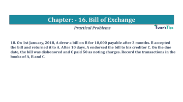 Question No.18 Chapter No.16 T.S. Grewal 1 Book 2019 Solution min min 360x202 - Chapter No. 16 - Accounting for Bills of Exchange - Solution