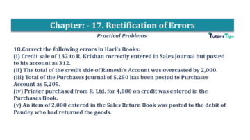 Question No.18 Chapter No.17 T.S. Grewal 1 Book 2019 Solution min min 360x202 - Chapter No. 17 - Rectification of Errors- Solution