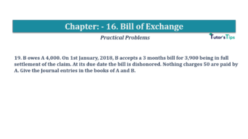 Question No.19 Chapter No.16 T.S. Grewal 1 Book 2019 Solution min min 360x202 - Chapter No. 16 - Accounting for Bills of Exchange - Solution