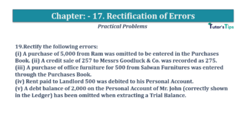Question No.19 Chapter No.17 T.S. Grewal 1 Book 2019 Solution min min 360x202 - Chapter No. 17 - Rectification of Errors- Solution