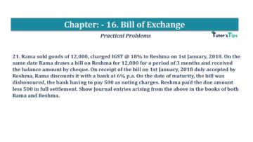 Question No.21 Chapter No.16 T.S. Grewal 1 Book 2019 Solution min min 360x202 - Chapter No. 16 - Accounting for Bills of Exchange - Solution