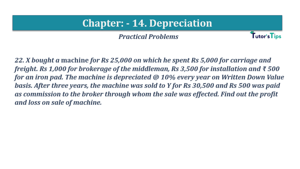 Question No 22 Chapter No 14