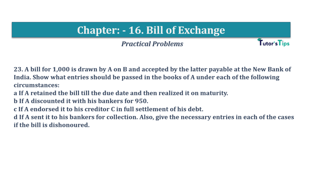 Question No 23 Chapter No 16