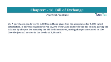 Question No.25 Chapter No.16 T.S. Grewal 1 Book 2019 Solution min min 360x202 - Chapter No. 16 - Accounting for Bills of Exchange - Solution