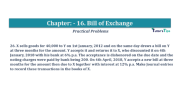 Question No.26 Chapter No.16 T.S. Grewal 1 Book 2019 Solution min min 360x202 - Chapter No. 16 - Accounting for Bills of Exchange - Solution